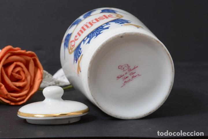 Antigüedades: Pequeño albarelo vintage de Dentijuste porcelana Santa Clara - Foto 7 - 269279838