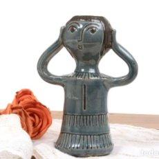 Antigüedades: PORTA VELAS PALMATORIA VINTAGE DE LOS 70 DE CERÁMICA FIRMADA POR VILÀ CLARA. Lote 269281143