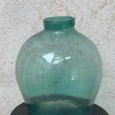 Antigüedades: JARRON RECIPIENTE CONTENEDOR ENCURTIDOS VIDRIO SOPLADO BOCA ANCHA S XIX XX 41X34CMS. Lote 269285218