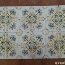 Antigüedades: P16 24 AZULEJOS MODERNISTAS PANEL BANCO ENCIMERA PARED MURO MESA PILAR. Lote 269287123