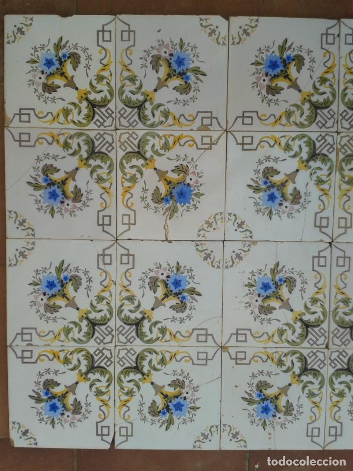Antigüedades: P16 24 AZULEJOS MODERNISTAS PANEL BANCO ENCIMERA PARED MURO MESA PILAR - Foto 4 - 269287123