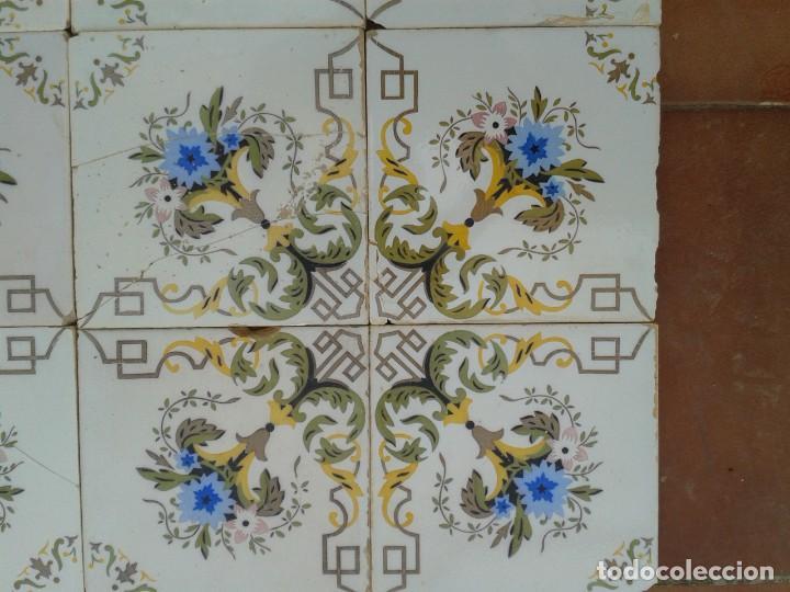 Antigüedades: P16 24 AZULEJOS MODERNISTAS PANEL BANCO ENCIMERA PARED MURO MESA PILAR - Foto 7 - 269287123