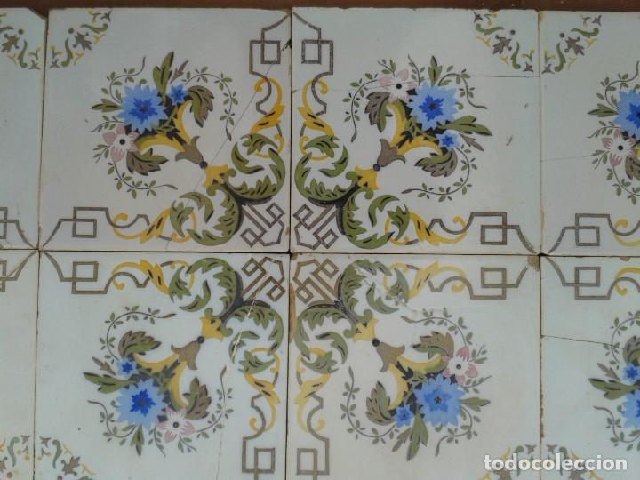 Antigüedades: P16 24 AZULEJOS MODERNISTAS PANEL BANCO ENCIMERA PARED MURO MESA PILAR - Foto 9 - 269287123