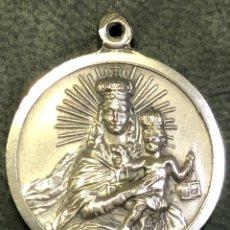 Antigüedades: MEDALLA VIRGEN DEL CARMEN- PLATA. Lote 269292788