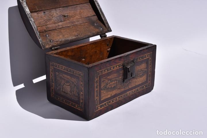 CAJA OAXACA SIGLO XVIII VILLA ALTA (Antigüedades - Muebles Antiguos - Baúles Antiguos)