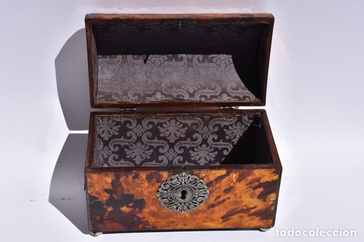 Antigüedades: Arqueta colonial de carey con certificado Cites.Mexico siglo XVIII - Foto 2 - 269329043