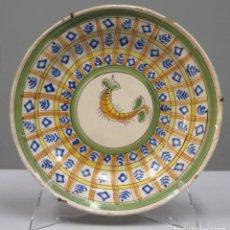 Antigüedades: PLATO DE CERÁMICA. MANISES. SIGLO XIX. Lote 269389633