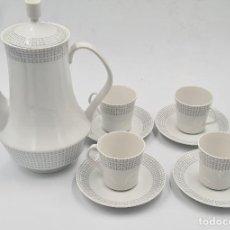 Antigüedades: JUEGO DE CAFE PORCELANA SANTA CLARA 4 SERVICIOS. Lote 269392568