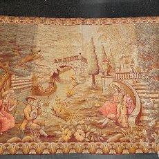 Antigüedades: BONITO TAPIZ DE PARED POSIBLEMENTE FRANCÉS CON ESCENA ROMÁNTICA DE FINALES DEL XIX. Lote 269398443