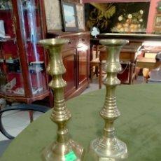 Antiquités: PAREJA DE PORTA VELAS REF-769. Lote 269401108