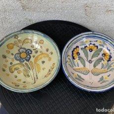Antigüedades: 2 PLATOS CUENCOS HONDOS CERAMICA TALAVERA NIVERIO 21 Y 20 CMS MITAD S XX. Lote 269466583