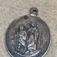 Antigüedades: MEDALLA DE PLATA RELIGIOSA. Lote 269467878