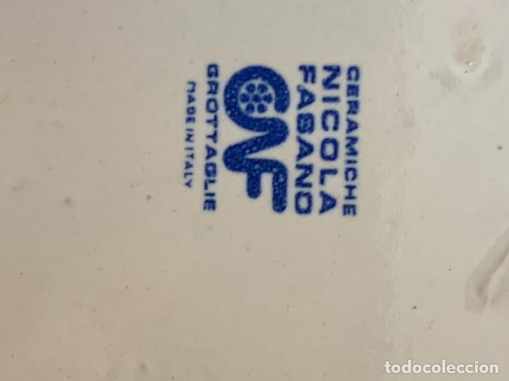 Antigüedades: 2 PLATOS CERAMICA CERAMICHE NICOLA FASANO MADE IN ITALY GROTAGLIE 3X18CMS - Foto 4 - 269467908
