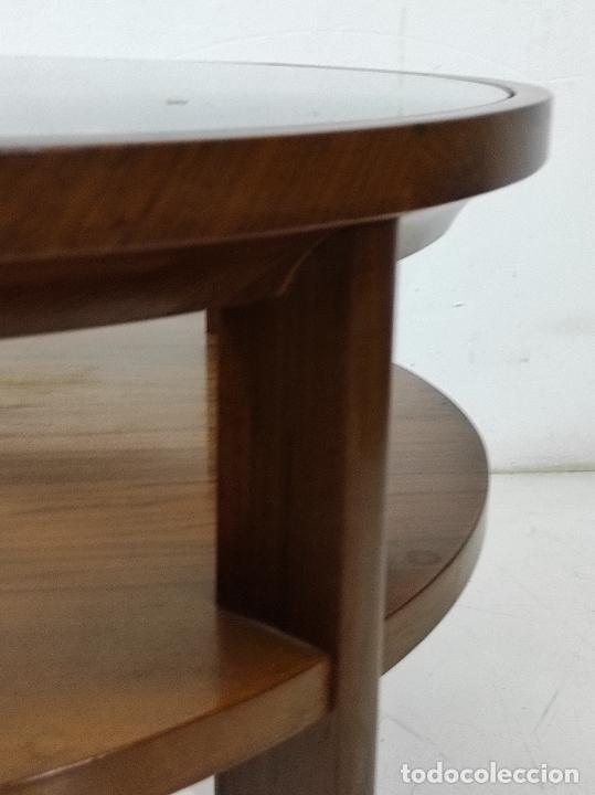 Antigüedades: Preciosa Mesa de Centro, Art Decó - Madera Palisandro - Sobre de Cristal - Años 20 - Foto 7 - 269578268