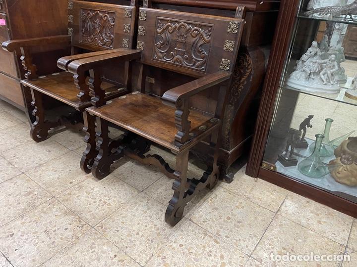 PAREJA DE SILLONES. (Antigüedades - Muebles Antiguos - Sillones Antiguos)