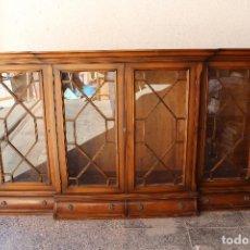 Antigüedades: MUEBLE VITRINA DE MADERA. Lote 269585228
