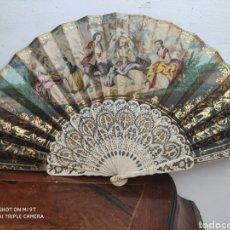 Antigüedades: ABANICO DE HUESO SIGLO XVIII-XIX. Lote 269612883