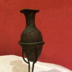 Antigüedades: ÁNFORA CON PIE DE FORJA ORIGINAL. Lote 269628718