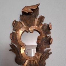 Antigüedades: ANTIGUA CORNUCOPIA DE MADERA Y PAN DE ORO SIGLO XVIII. Lote 269628778