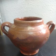 Antigüedades: PUCHERO DE BARRO. Lote 269631123