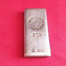 Antigüedades: LINGOTE DE PLATA 999 DE 500 G .SOCIEDAD ESPAÑOLA DE MATALES PRECIOSOS. Lote 269648248