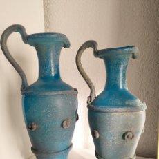 Antigüedades: 2 ÁNFORAS VIDRIO ROMANO LAFIORE. Lote 269701883