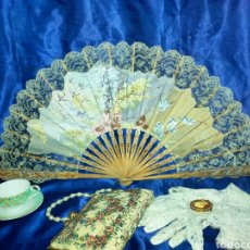 Antiguidades: ESPECTACULAR ABANICO 1880-1890S. Lote 269704918