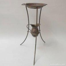 Antigüedades: PALANGANERO CON PALANGANA Y JARRA. Lote 269710973