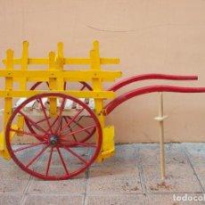 Antigüedades: ANTIGUO Y RARO CARRO DE MADERA Y HIERRO PARA NIÑOS. Lote 269724468