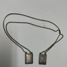 Antigüedades: JOY-1607. ESCAPULARIO DE PLATA VIRGEN DEL CARMEN. MEDIADOS S.XX.. Lote 269734158