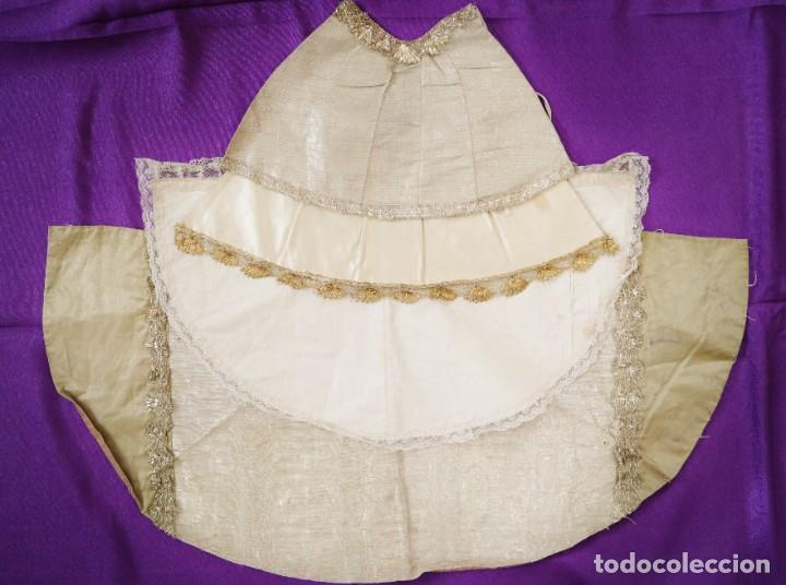 Antigüedades: Conjunto de cuatro capas para imágenes de vestir o cap i pota. S. XVIII-XIX. - Foto 2 - 269747893