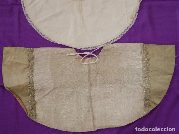 Antigüedades: Conjunto de cuatro capas para imágenes de vestir o cap i pota. S. XVIII-XIX. - Foto 12 - 269747893