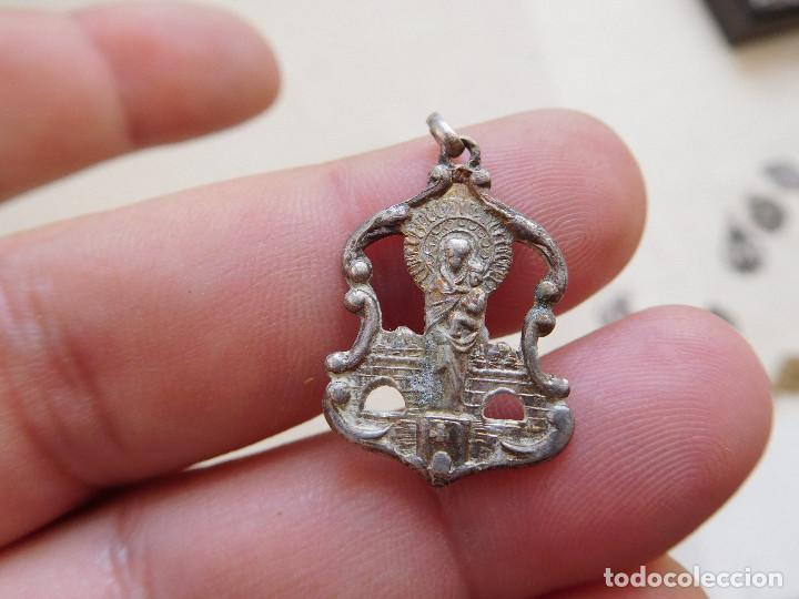MEDALLA DE PLATA CALADA N.S. DEL PILAR ZARAGOZA (Antigüedades - Religiosas - Medallas Antiguas)
