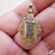 Antigüedades: MEDALLA DAMASQUINADA NTRA. SRA. DEL SAGRARIO DE TOLEDO. Lote 269812793