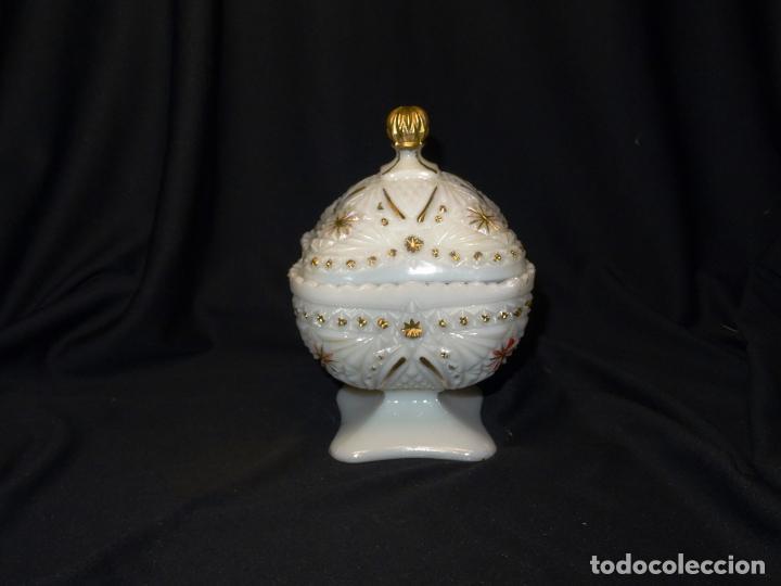 Antigüedades: Bombonera caramelera o centro en opalina, Años 1920 - Foto 8 - 269813228