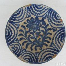 Antigüedades: FUENTE EN CERÁMICA AZUL DE FAJALAUZA DEL SIGLO XIX. Lote 269966063