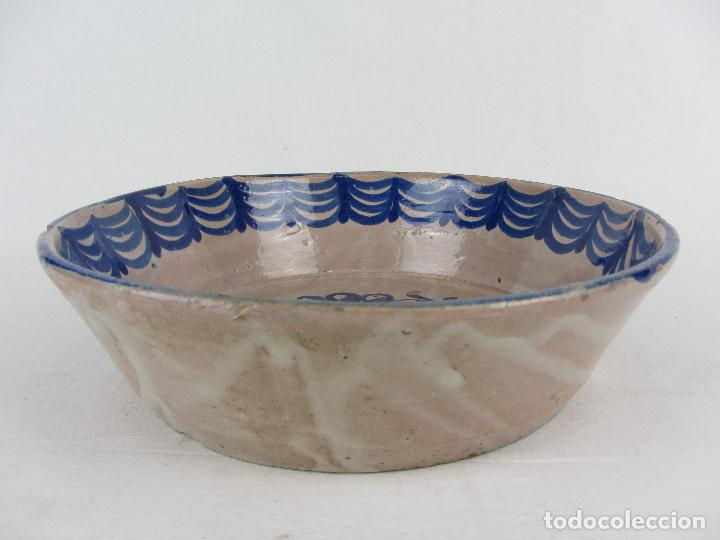 Antigüedades: Fuente en cerámica azul de Fajalauza, siglo XIX - Foto 3 - 269966678