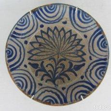 Antigüedades: FUENTE EN CERÁMICA AZUL DE FAJALAUZA DEL SIGLO XIX. Lote 269967418
