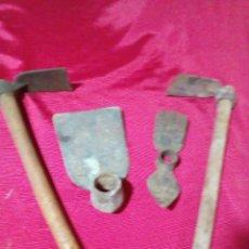 Antigüedades: ANTIGUAS HERRAMIENTAS DE JARDIN. Lote 269976893