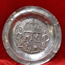 Antigüedades: PLATO DE PLATA LIMOSNERA. Lote 269996343