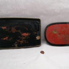 Antigüedades: 2 BANDEJAS ORIENTALES. Lote 270145353