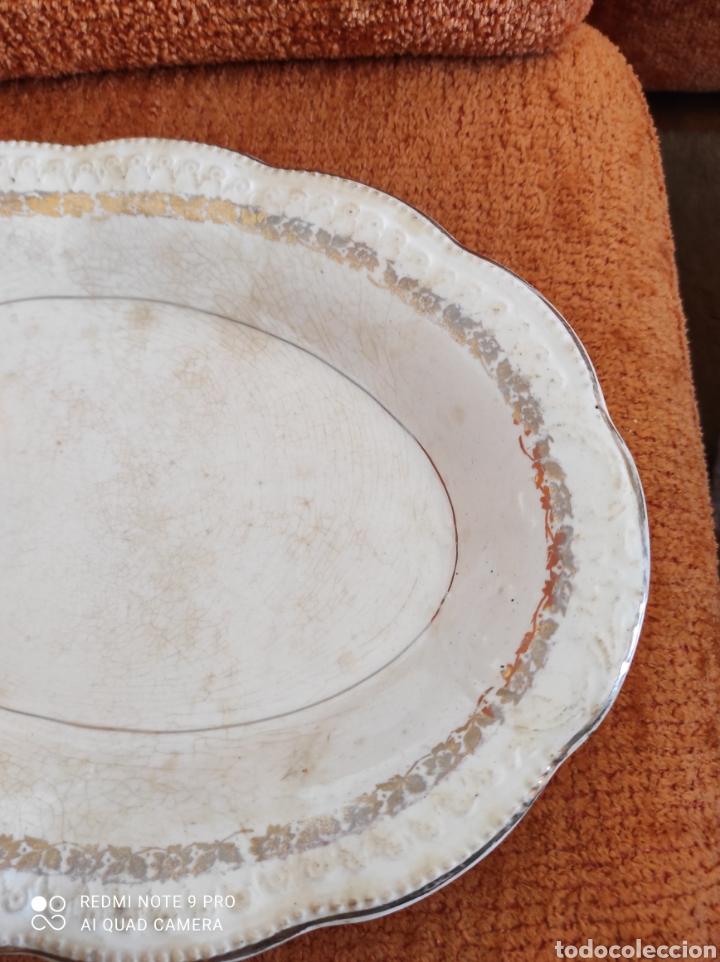 Antigüedades: Antigua bandeja fuente San claudio - Foto 4 - 270230643