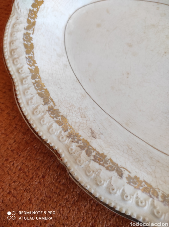 Antigüedades: Antigua bandeja fuente San claudio - Foto 5 - 270230643