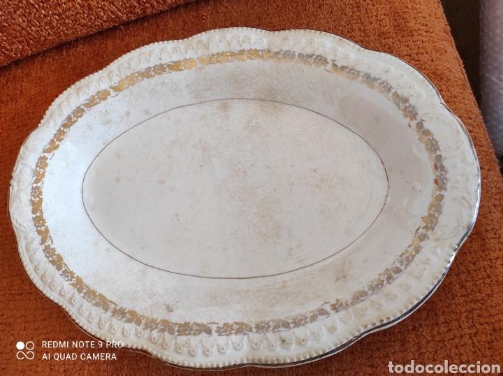 ANTIGUA BANDEJA FUENTE SAN CLAUDIO (Antigüedades - Porcelanas y Cerámicas - San Claudio)