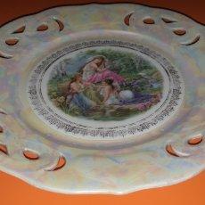 Antigüedades: BELLO PLATO CALADO CON REFLEJOS HACIA 1900 ALEMAN. Lote 270350838