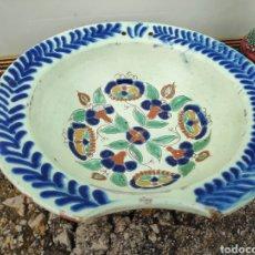 Antigüedades: PLATO BACÍA BARBERO ANTIGUO . PROB MANISES. Lote 270355008