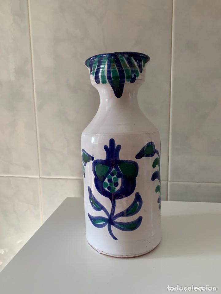 JARRA ACEITERA EN CERÁMICA AZUL FAJALAUZA GRANADA GRANADINA (Antigüedades - Porcelanas y Cerámicas - Fajalauza)