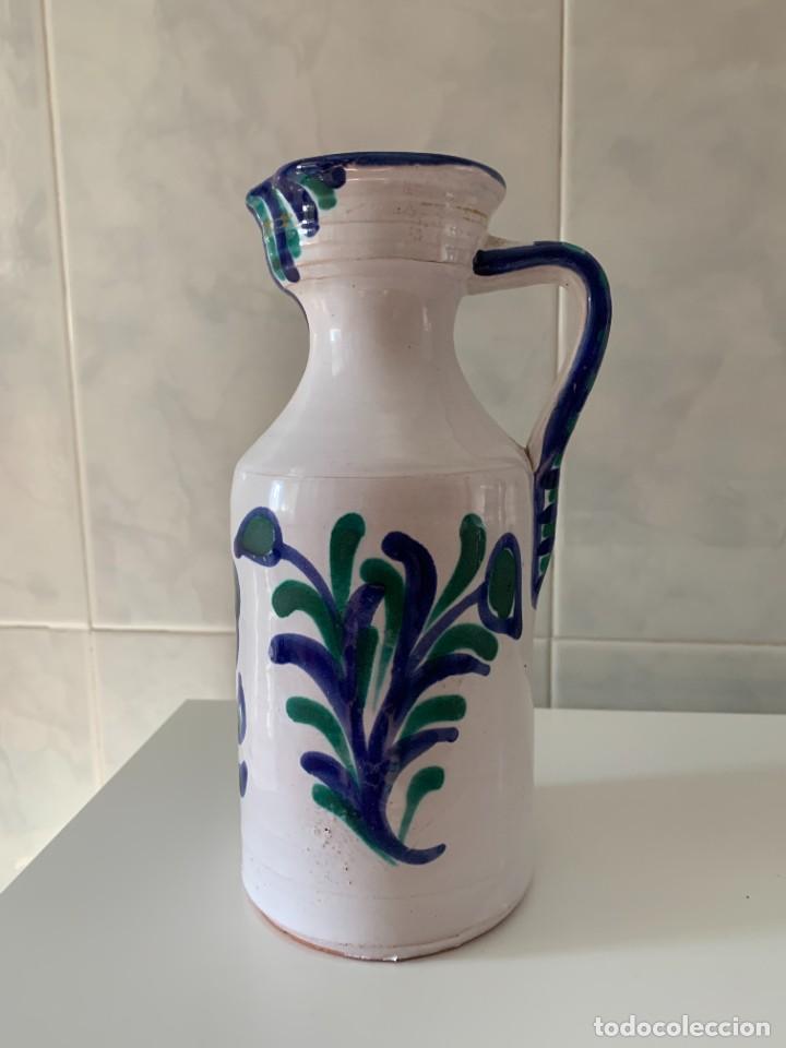 Antigüedades: Jarra Aceitera en cerámica azul Fajalauza Granada granadina - Foto 6 - 270368568