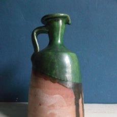 Antigüedades: ALCUZA - ACEITERA - CERÁMICA VIDRIADA ESMALTADA - FIRMADA TITO ÚBEDA - JAEN. Lote 270372973