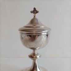 Antigüedades: COPON EN METAL PLATEADO , PRIMERA MITAD DEL SIGLO XX , FECHADO EN EL 39 ALT. 25 CMS.. Lote 270379873